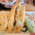 えびのや - 天ぷら定食 海老、蓮根、かぼちゃ、ピーマン、ちくわ、魚、いか