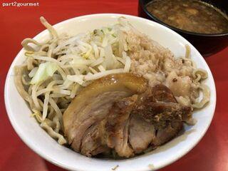 麺屋 桐龍 - 再訪問 2019/09 つけ麺+豚増し2枚 「ニンニクアブラ」(1,030円)