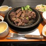 いきなり ! ステーキ - サラダ2.スープ2つ(笑)