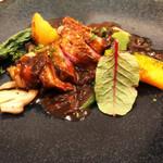 ビストロ・ラ・カシェット - 小鴨のロースト ポルチーニ茸のソース