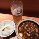 もりもと - 料理写真:生&メシ&麻婆豆腐