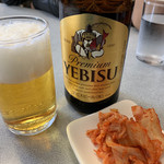 でんでん - 生ビール(ヱビス)