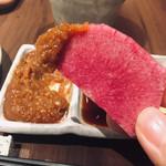 串揚げと和食 もりもと  - 手製の肉味噌が最高