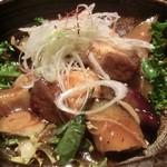 11602712 - 「青魚と茄子の青唐辛子炒め」(生姜度=2)