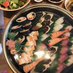 深清鮓 - 上にぎり7貫1️⃣10貫2️⃣、上巻き、海老箱寿司、