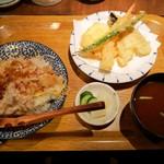 天ぷら酒場 NAKASHO - 半熟玉子天めしランチ