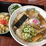 生江食堂 - 料理写真:おすすめみそチャーシューメンセット