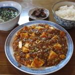 上重朋文の店 - 麻婆豆腐+ライス 11.11.04.