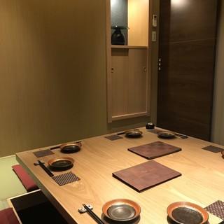 新しくなったVIPルームは5〜8名様でご利用頂けます。接待や秘密の会食にも!