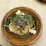 自家製ソーセージバル 先斗町ビアホール - 京風みょうが入りポテトサラダ