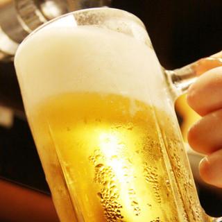 【大好評】生ビール付き全70種!単品飲み放題2時間1380円