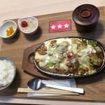 二代目 男寿狼 - チーズダッカルビ定食(1000円)