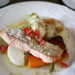 カシェルポポ - 秋鮭とホタテの香草パン粉焼