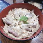 桔梗家 - 柳川丼(骨抜き)アップ