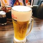 餃子の王将 - 生ビール(中)