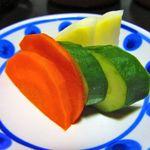 山喜旅館 - 夕食・香の物