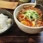 追風丸 - ピリ辛ジャン麺(辛さマシMAX5)➕ライス