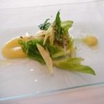 イルバンビーノ - 愛媛県産 伊達真鯛のコンフィ 柚子ソース