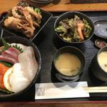 しまづ者 - 海鮮丼=1200円 税別