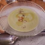 プレイン - 料理写真:グリーンピースのスープ