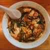 辛麺屋輪 - 料理写真:2019年9月 辛麺 レギュラー,中華麺,辛さ4倍,ニラだけ多め 750円