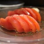 本格炭火焼き鳥&博多もつ鍋 串たつ - トマトスライス