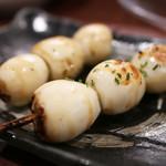 本格炭火焼き鳥&博多もつ鍋 串たつ - 「うずら玉子」まさかの2番手。