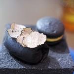 オステリア イタリアーナ コバ - イワシと豚足のクレープ フォアグラのマカロン