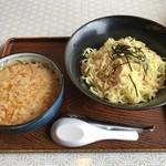ラーメンダイニング絆 - 四街道坦々つけ麺(背脂3段)