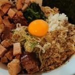 煮干ガッツ - 料理写真:肉増しまぜそば(大) 20190922
