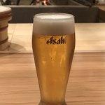 夜ノ焼魚 ちょな - 生ビールはアサヒのスーパードライ