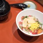 こんぴら丸 - ミニぶっかけ漁師丼 640円
