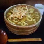 1161937 - カレーうどん(大盛)+天ぷらです。