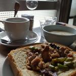 YUSHI CAFE - トーストとスープと珈琲セット(1,000円)