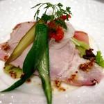116107797 - 和豚もちぶたの自家製生ハムとロースハムのサラダ