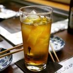 京祇園ねぎ焼 粉 - ☆烏龍茶で乾杯です(^^♪☆