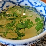 バンコク カフェ - スープ(グリーンカレー)