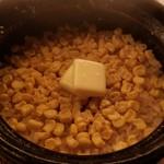 HAJIME - 食事(とうもろこしの炊き込みご飯)