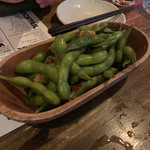 九州珠 - 枝豆の一夜漬け 味がしっかり染みています。お酒に合うピリ辛飲み醤油味。