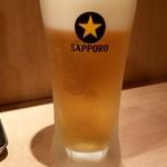 牛カツ京都勝牛 - 生ビール:190円