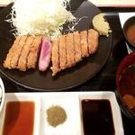 牛カツ京都勝牛 - 元祖赤・牛ロースカツ膳:1,380円+税