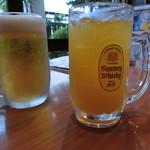 中清食堂 - 生ビールと「三ヶ日みかんハイボール」