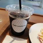 カフェコムサ - ケーキセット¥200のアイスコーヒー