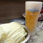116125740 - お通し(おかわり)&生ビール(おかわり)