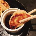 花たぬき - 焼き餃子アップ