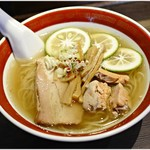 拉麺5510 - ワタリ蟹・ホタテ・アサリのかぼす醤油ラーメン あん肝入り 1000円