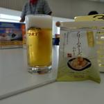 アサヒビール茨城工場 - ドリンク写真:最初はスーパードライ