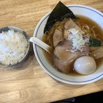 麺や たけ田 - 料理写真:特製 煮干そば ライス