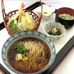 タワーレストラン昭和 - そば御膳天ぷら添え