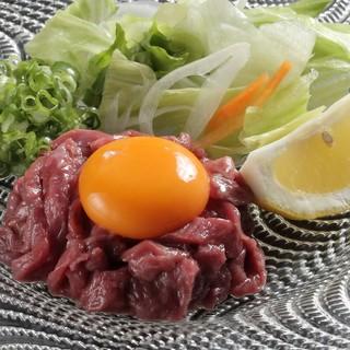新鮮な生肉を提供いたします。